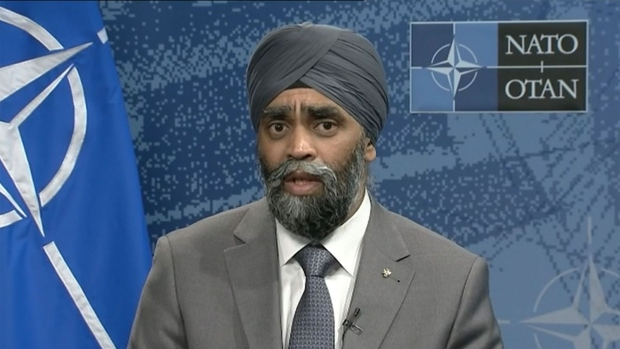 Defence Minister Harjit Sajjan appears on CTV's Question Period.