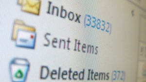 A full computer e-mail program inbox is shown in Toronto, Wednesday, Jan. 29, 2014 (THE CANADIAN PRESS).