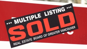 """A """"sold"""" sign is seen in this file photo. (CTV)"""