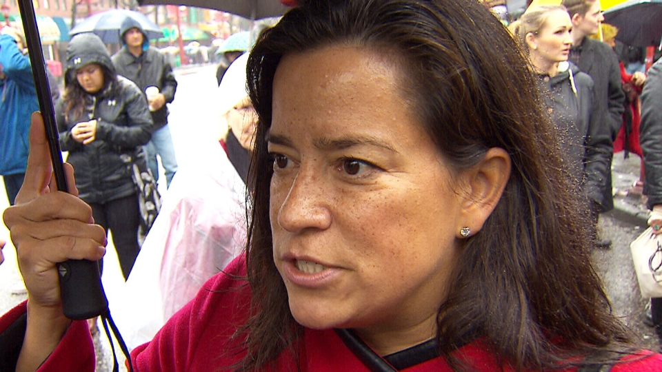 Justice Minister Jody Wilson-Raybould speaks at Vancouver's Women's Memorial March.