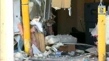 Calgary thieves use front end loader to smash bank