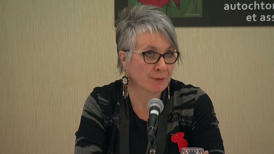 Minister for the Status of Women Patty Hajdu speaks to reporters on Feb. 15, 2016.