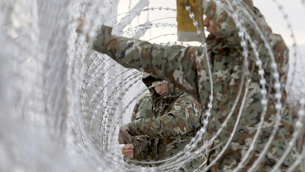 Razor Wire Border Immigrants