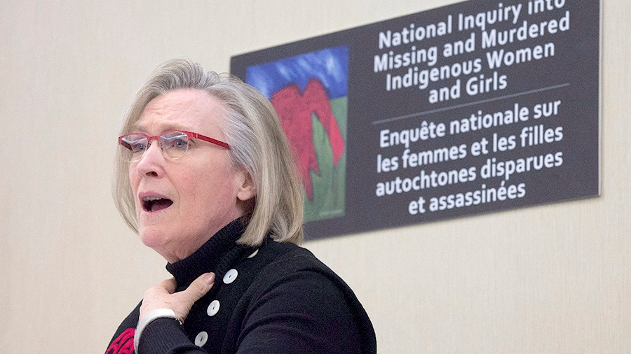 Minister of Indigenous and Northern Affairs Carolyn Bennett speaks during a news conference on the Missing and Murdered Indigenous Women and Girls inquiry in Ottawa, Monday, February 15, 2016. (THE CANADIAN PRESS / Adrian Wyld)