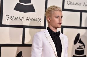 Justin Bieber arrives at the 58th annual Grammy Awards at the Staples Center on Monday, Feb. 15, 2016, in Los Angeles. (Jordan Strauss / Invision / AP)