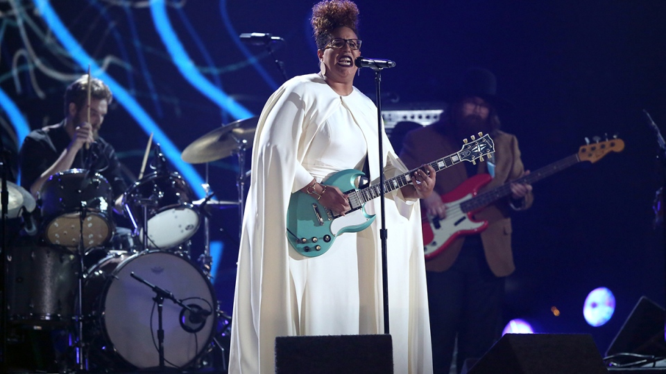 Brittany Howard of Alabama Shakes performs at the 58th annual Grammy Awards on Monday, Feb. 15, 2016, in Los Angeles. (AP / Matt Sayles / Invision)