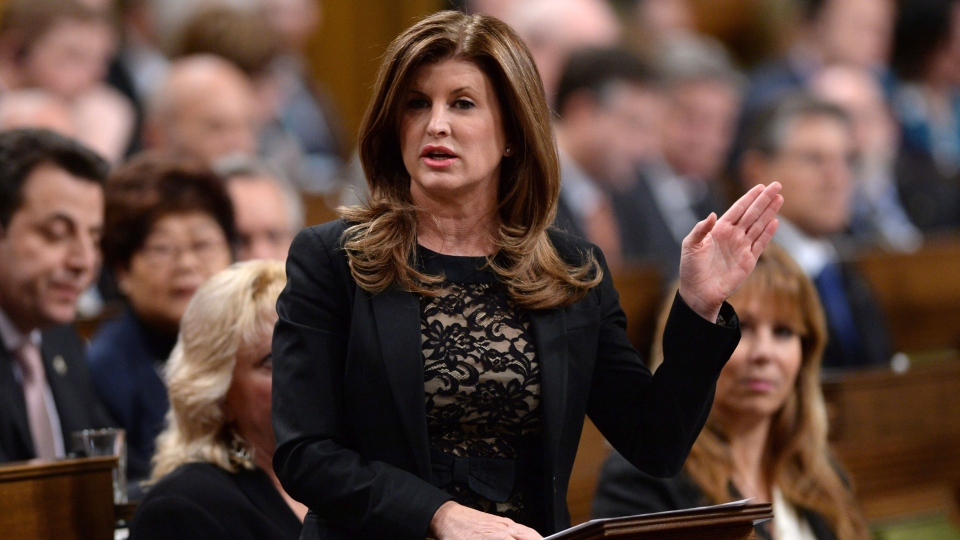 Interim Conservative leader Rona Ambrose asks a question during question period in the House of Commons on Parliament Hill in Ottawa on Tuesday, Feb. 16, 2016. (Sean Kilpatrick / THE CANADIAN PRESS)