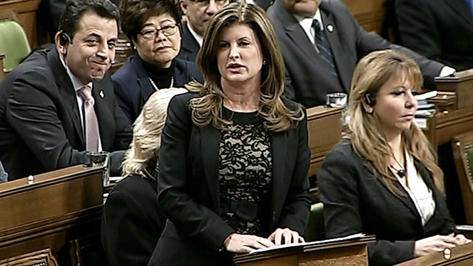 Interim Conservative leader Rona Ambrose asks a question during question period in the House of Commons on Parliament Hill in Ottawa on Tuesday, Feb. 16, 2016.