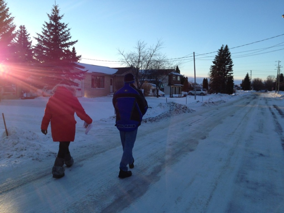 Cooper Nemeth's Aunt Laresa Sayles and cousin Joe Nemeth went door-to-door in North Kildonan.