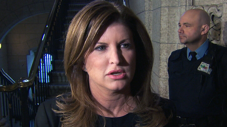 Interim Conservative leader Rona Ambrose speaks to reporters in Ottawa, Tuesday, Feb. 16, 2016.