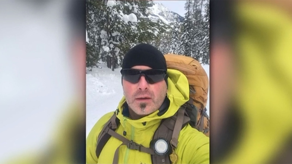 Todd Wyatt broke his leg during an avalanche near Lake Louise, Alta.