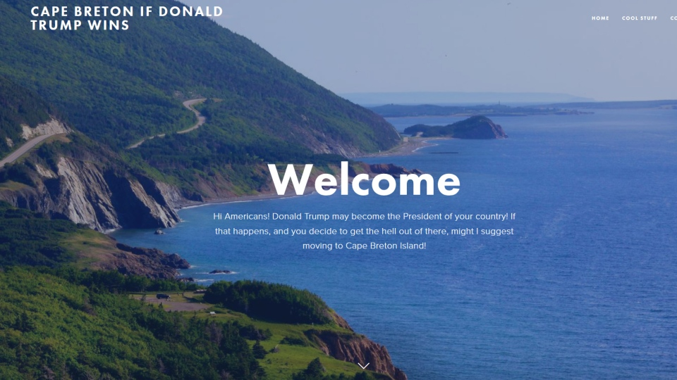 A website encouraging Americans to move to Cape Breton if Donald Trump becomes president is starting to get serious inquiries from U.S. residents.