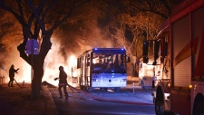 Scene of an explosion in Ankara, Turkey