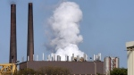 Smokestacks and pollution from Arcelor Mittal's Dofasco mill in Hamilton, Ont. (Stephen C. Host/THE CANADIAN PRESS)