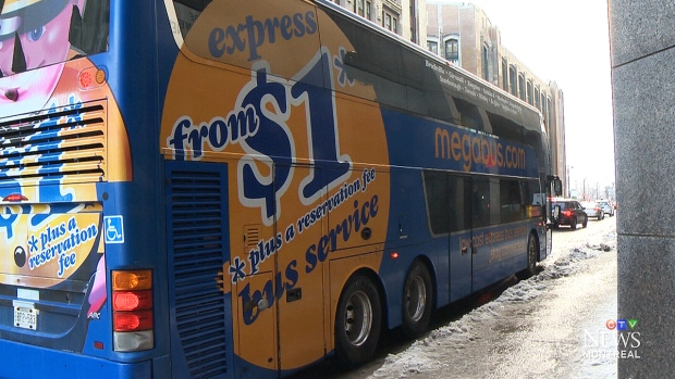 A Megabus is seen in this undated photo.
