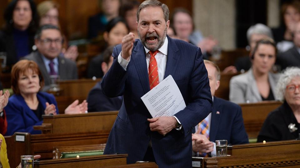 NDP Leader Tom Mulcair in question period