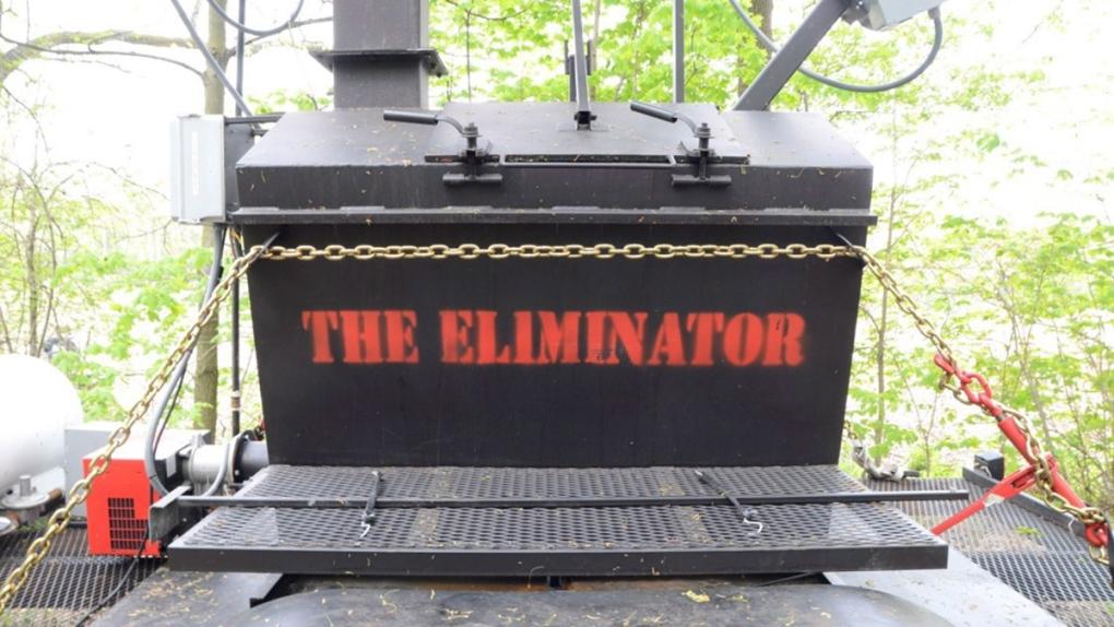 Incinerator as evidence in Tim Bosma trial