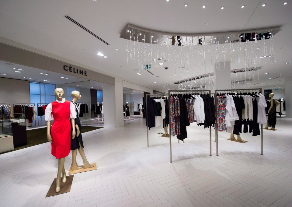 Dresses are shown inside Saks Fifth Avenue the company's new store in downtown Toronto on Tuesday, February 16, 2016. (Nathan Denette /  THE CANADIAN PRESS)