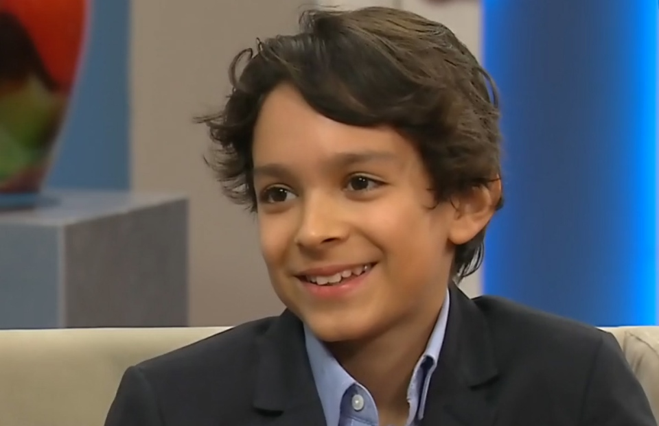 Ontario artist Evan Sharma, 12, speaks on CTV's Canada AM on Thursday, Feb. 18, 2016.