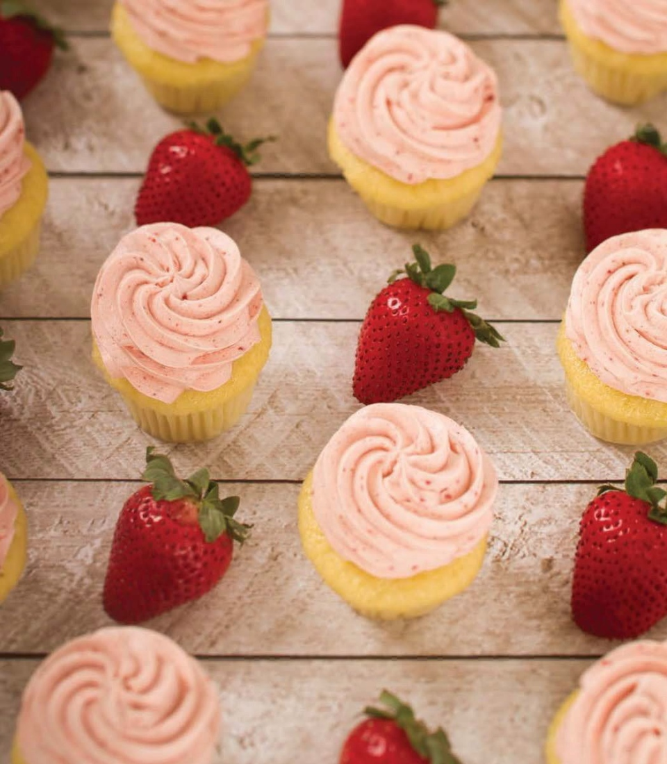 Strawberry Icing from the 'The Prairie Girl Cupcake Cookbook: Living Life One Cupcake at a Time.' is shown in this undated handout image.