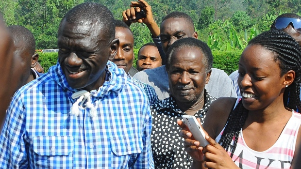 Kizza Besigye after casting his vote