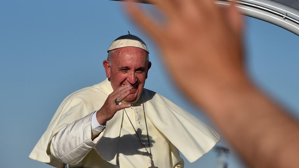 Pope Francis in Ciudad Juarez, Mexico, on Feb. 17, 2016.  (Gabriel Bouys / AP)