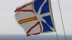 The flag of Newfoundland and Labrador is seen in this undated file photo. (CP PHOTO/Jonathan Hayward)