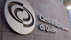 The offices of the Caisse De Depot, Quebec's pension fund manager, in Montreal, on Wednesday, Feb. 25, 2009. (THE CANADIAN PRESS/Ryan Remiorz)