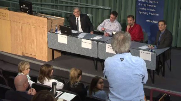 The International Centre for Infectious Diseases held a public panel at the University of Manitoba's Bannatyne Campus.