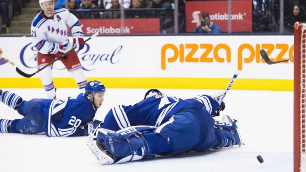 Derek Stepan scores against the Leafs