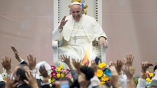 Pope Francis salutes faithful in Mexico