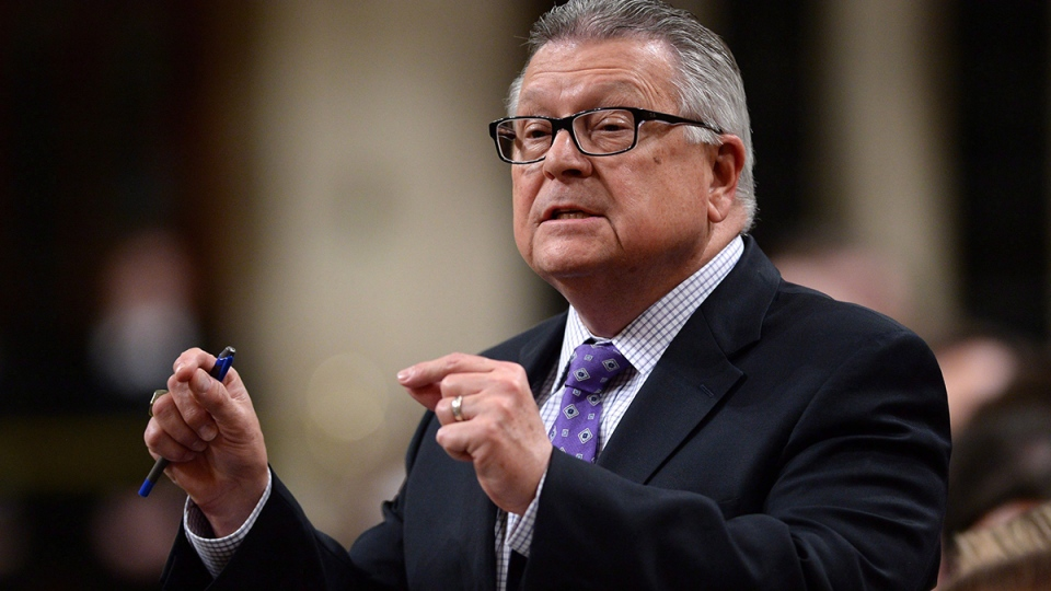 Public Safety Minister Ralph Goodale is shown during question period in the House of Commons on Thursday, Jan. 28, 2016. (Sean Kilpatrick / THE CANADIAN PRESS)