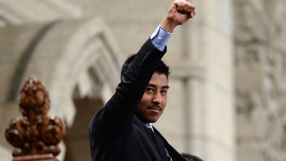 The Right Hon. PJ Lakhanpal, who through the Make-A-Wish Foundation, has been made Prime Minister of Canada for a week is recognized in the House of Commons on Parliament Hill in Ottawa on Wednesday, Feb. 17, 2016. (THE CANADIAN PRESS/Sean Kilpatrick)