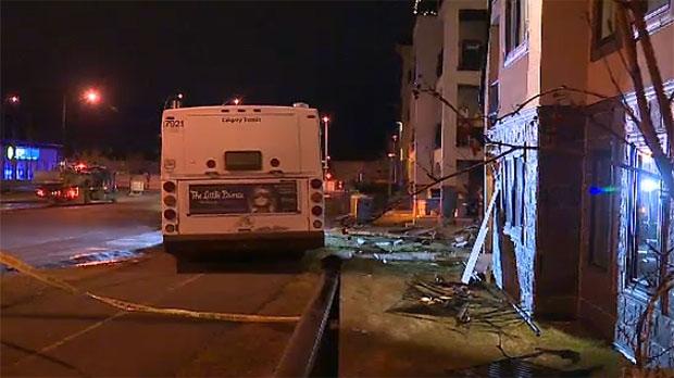 Bus Crashes Into Condo Complex In Mckenzie Towne Ctv News