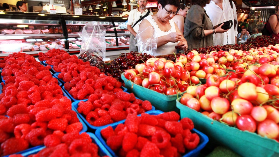 Canada's annual inflation rate hit two per cent last month as prices for fresh fruits and vegetables continued their surge, the federal statistics agency said Friday, Feb. 19, 2016. (THE CANADIAN PRESS/Darryl Dyck)