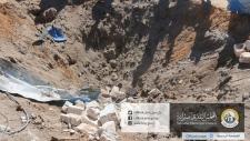 Site of a U.S. airstrike in Libya