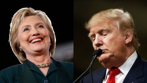 Democratic presidential candidate Hillary Clinton  (AP/John Locher) and Republican presidential candidate Donald Trump (AP/Matt Rourke) are seen in this composite image.