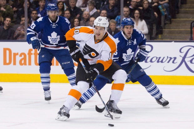 Flyers play Leafs