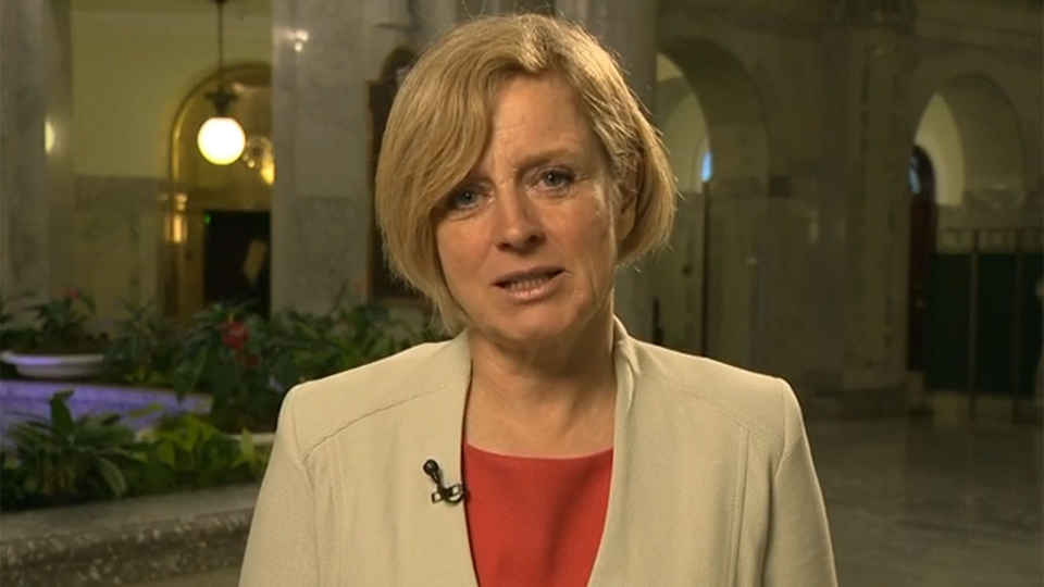 Alberta Premier Rachel Notley appears on CTV's Question Period on Sunday, Feb. 21, 2016.