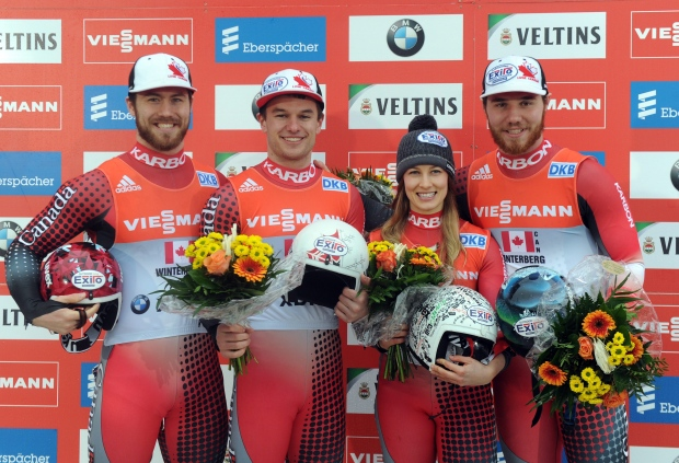 Canadians at luge World Cup