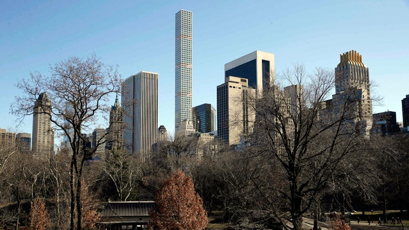 A building is seen from Central Park in Manhattan, New York, Thursday, Feb. 18, 2016.  (AP /Seth Wenig)