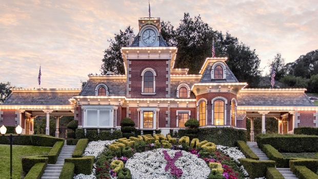 On the grounds of sprawling Neverland Ranch