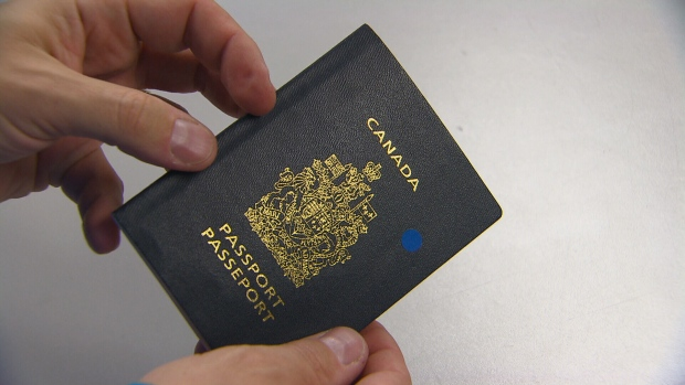 A Canadian passport is shown in this file photo.