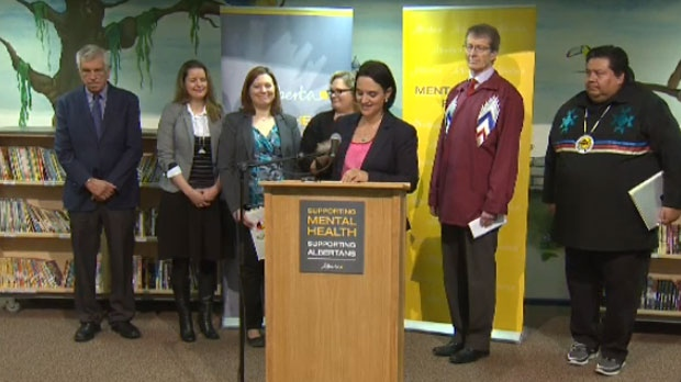 Representatives from the provincial government made the announcement with stakeholders in the mental health community.