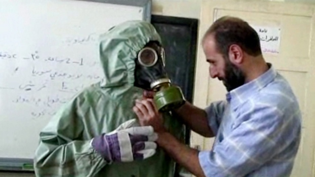Chemical weapons gas masks Syria