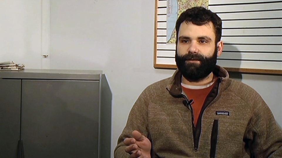 This undated photo made from a video provided by WWMT Newschannel 3 shows Matt Mellen. (WWMT Newschannel 3 via AP)