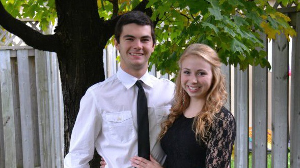 Kaya Firth and Zach Sutherland were involved in a kayak incident, in Caledon, Ont., on Sunday, Feb. 21, 2015. (Facebook)