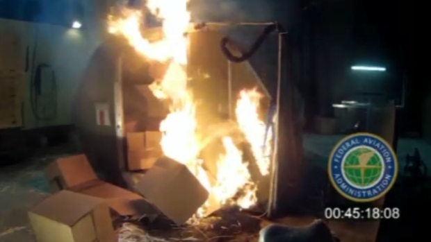 Lithium batteries catch fire