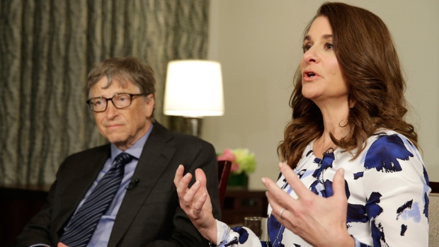 Bill and Melinda Gates in New York