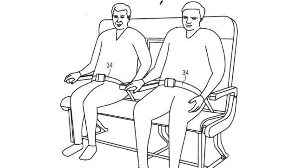 Re-configurable passenger bench seat by Airbus (U.S. Patent Office / Airbus)